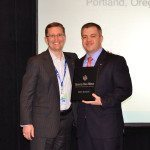 Ryan Imbrie, 2012 Rookie of the Year with SVNIC's Vice President for Organizational Development Bo Barron