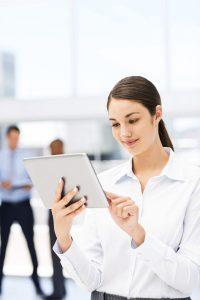 Female Executive Using Digital Tablet